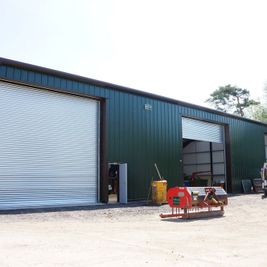 industrial steel frame building