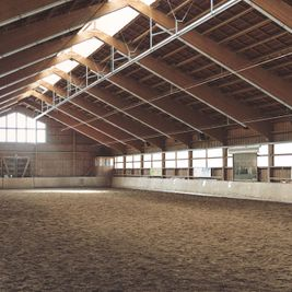 steel frame buildings for indoor arena